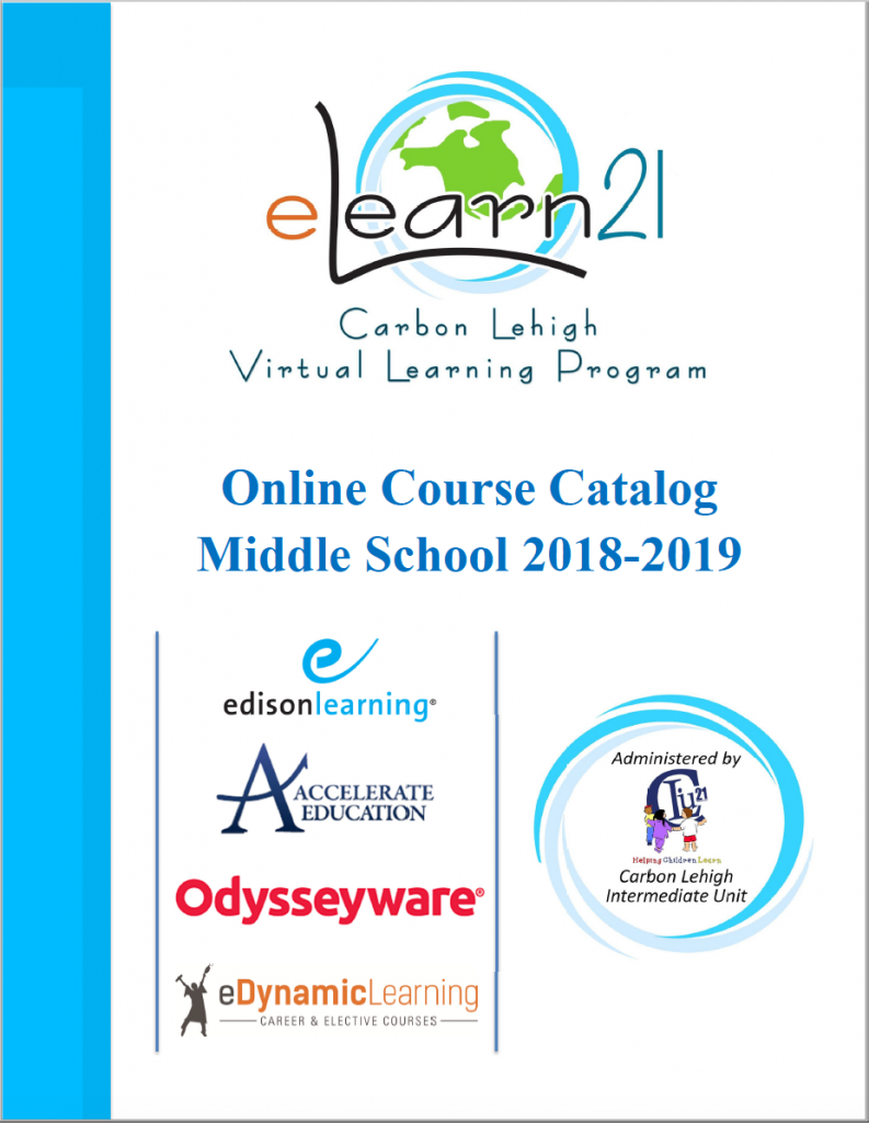 2018-2019 Middle School Catalog