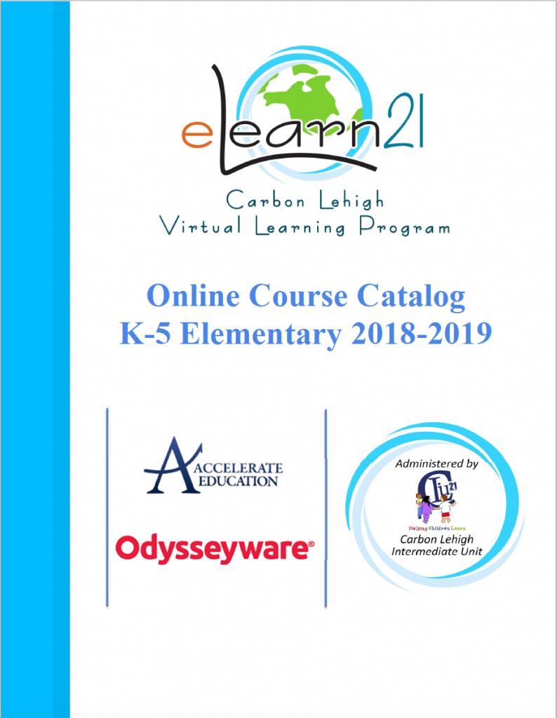 2018-2019 Elementary Catalog